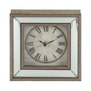 WIDDOP Hometime Beaded Mirror Mantel Clock Roman Dial  W2810