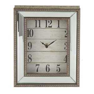 WIDDOP Hestia Beaded Mirror Mantel Clock Arabic Dial  W2811