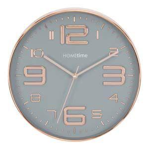 WIDDOP Hometime Copper Plastic Wall Clock Large Quarter Nos 30.5cm  W7775