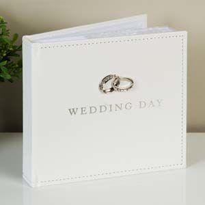 "WIDDOP Amore PU Photo Album 4"" x 6"" - Wedding Day  WG12046"