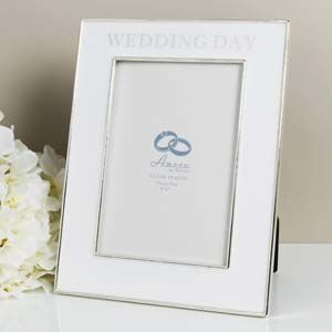 "WIDDOP Amore Silverplated & Epoxy Frame Wedding Day 5"" x 7"" Ref: WG90457"