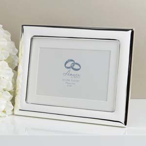 "WIDDOP Amore Silverplated Wide Edge Photo Frame 6"" x 4""  WG92664"