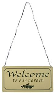 Welcome To My Garden Sign - Lh192