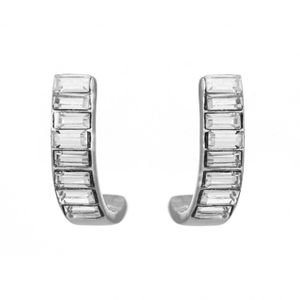 Baguette Half Hoop Earrings 1828