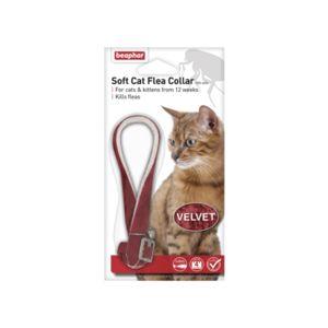 Beaphar 30Cm Cat Flea Collar Velvet - Asst Colours 17805