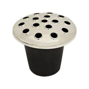 Black Plastic Pot Grave Insert With Black Lid Va9909