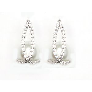 Brilliant Cut And Faux Pearl Cz Earrings 1629