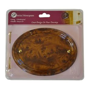Centurion Medium Wood Effect Oval Plaque Ref Tc26Wl