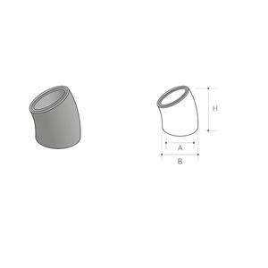 concrete-class-1-circular-flue-liner-bend-30-deg-225mm-int-diam-rm8