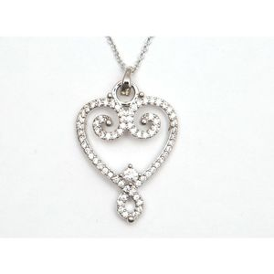 Crystal Heart Pendant 7064