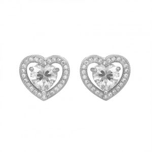 Crystal Heart Solitaire Earrings 1843