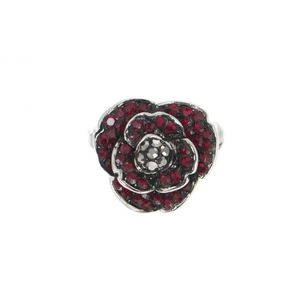 Crystal Poppy Pin 1921