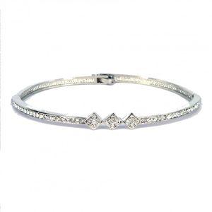 Crystal Triple Diamond Bangle 1864