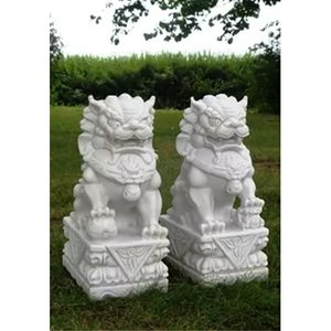 DaVinci Medium Foo Dogs White (Pair) DVO-05BW