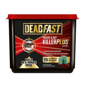 Deadfast Mouse and Rat Killer Plus 15 Block 300g 20300394