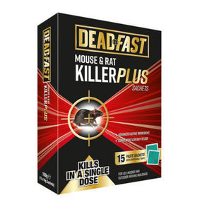 Deadfast Mouse and Rat Killer Plus 15 Sachets 150g 20300393