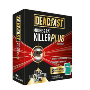 Deadfast Mouse and Rat Killer Plus 8 Sachets 80g 20300392