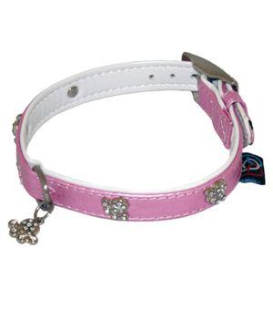 Diamante Paw Collar 1-2 X 12-14 Asst Colours