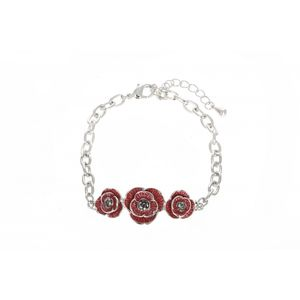 Enamel And Crystal Poppy Bracelet 1917