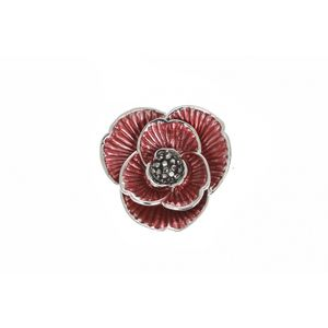 Enamel And Crystal Poppy Brooch 1914