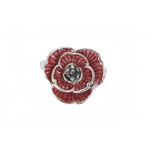 Enamel And Crystal Poppy Pin 1915