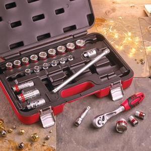 faithfull-25-piece-3-8-sq-drive-metric-socket-set-ref-xms16sock38