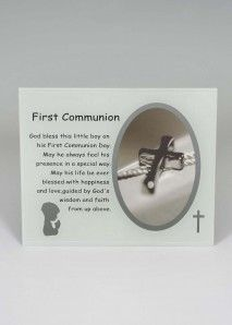 Fischhoff Boys 1st Communion Photo Frame DF17046-A