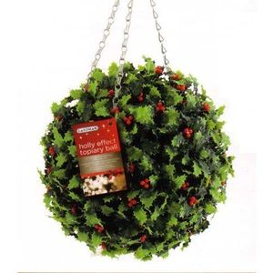 Gardman Holly Effect Topiary Ball - 02820Xs