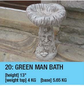 Green Man Bird Bath 20