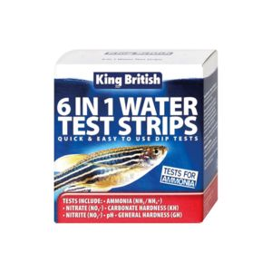 King British 6 In 1 Water Test Strips 17975