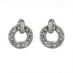 Open Circle Crystal Earrings 1697