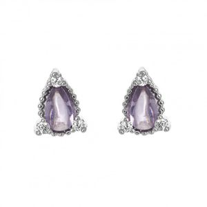 Oval Purple Stud Earrings 1836
