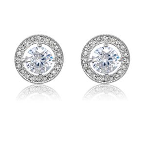 Rhodium Crystal Earrings E/Ring7023