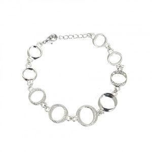 Rhodium Plated Circle Bracelet 1883