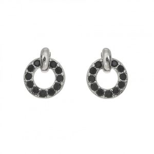 Rhodium Plated Open Circle Earrings 1894
