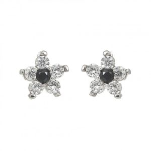 Rhodium Plated Star Earrings 1892