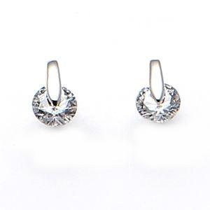 Rhodium Plated Stud Earrings 1875