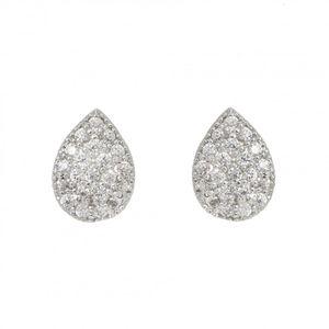Rhodium Plated Teardrop Earrings 1906