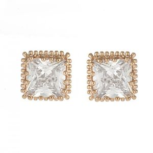 Rose Gold Plated Cz Studs 1681