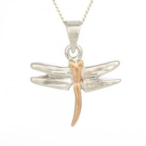 Silver Dragonfly Pendant 5527