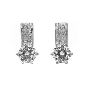 Solitaire Bar Earrings 1825
