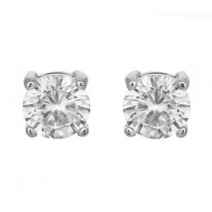 Solitaire White Stone Earrings 1791