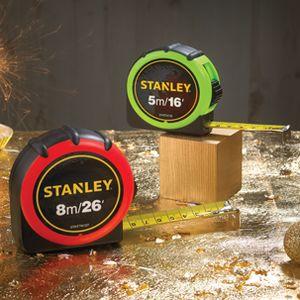 Stanley 8Mtr Hi-Vis Tape Measures
