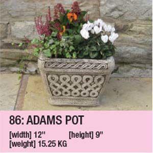 Stone Adams Pot