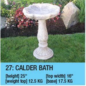Stone Calder Bird Bath