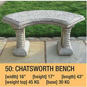Stone Chatsworth Bench