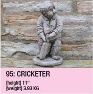 Stone Cricketer Ornament 95