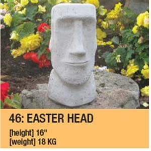 Stone Easter Head Garden Ornament