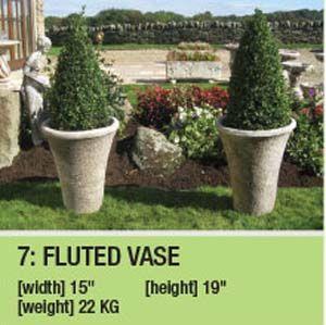 Stone Fluted Vase