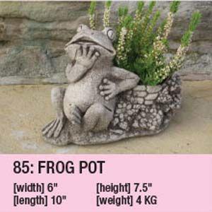Stone Frog Pot